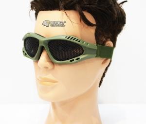 【翔準軍品AOG】軍綠 小眼鏡圓鐵網 護目鏡 安全裝備 面具 透風 護具 戶外 生存 E03005-2