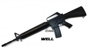 【翔準軍品AOG】WELL 手拉長槍 M16A1 黑 7.32 塑膠板 輕巧 運動款 DW-04-AZB
