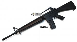 【翔準軍品AOG】WELL 手拉長槍 M16A2 黑 7.32 塑膠板 輕巧 運動款 DW-04-AZC