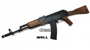 【翔準軍品AOG】WELL 長槍D74 黑 24版 AK74 折托 木紋 DW-04-AZH