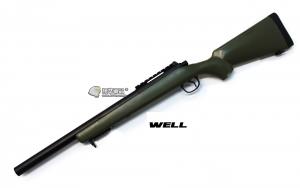 【翔準軍品AOG】*無法超取* 綠色 WELL MB02AG 手拉空氣槍 簡配 VSR10 DW-01-02AG