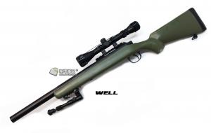 【翔準軍品AOG】*無法超取* 綠色 WELL MB02AG 手拉空氣槍 全配 VSR10 DW-01-02AG