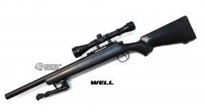 【翔準軍品AOG】*無法超取* 黑色 WELL MB02ATN 手拉空氣槍 全配 生存遊戲 DW-01-02ATN