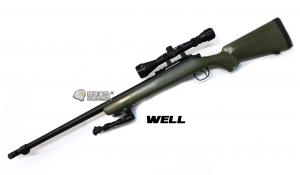 【翔準軍品AOG】*無法超取* 綠色 WELL MB07 AG 手拉空氣槍 全配 生存遊戲 DW-01-07AG