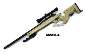 【翔準軍品AOG】*無法超取* 沙色 WELL 04 ATN 手拉空氣槍 全配 生存遊戲 DW-01-04ATN