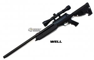 【翔準軍品AOG】*無法超取* WELL06ATN  黑色 手拉空氣 狙擊槍 全配 DW-01-MB13A