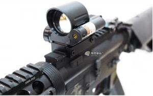 【翔準軍品AOG】圓筒版L型 內紅綠 紅外線 4點可變換 光學瞄具 AK M4 G36 周邊配件 B02021-2
