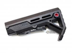 【翔準軍品AOG】黑色 V型 戰鬥後托 槍托 AK M4 周邊配件 瓦斯槍 電動槍 C1018D