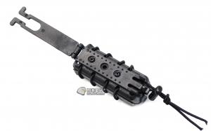 【翔準國際AOG】黑色 皮老闆 手槍 快拆 彈匣套 9MM 瓦斯槍 裝備 配備 TB1218-BK