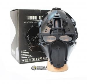 【翔準軍品 AOG】黑色  懲罰者高級頭盔 全配 電影 戰鬥頭盔 頭盔 護具 E0120HA