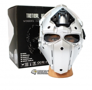 【翔準軍品 AOG】銀色 懲罰者高級頭盔 全配 電影 戰鬥頭盔 頭盔 護具 E0120HD