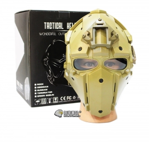 【翔準軍品 AOG】沙色 懲罰者高級頭盔 全配 電影 戰鬥頭盔 頭盔 護具 E0120HC