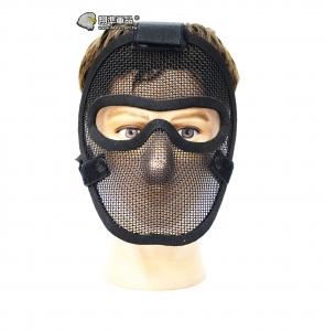 【翔準軍品 AOG】黑色 無尾熊 全臉露眼面罩 面罩 護具 安全裝備 透氣 夏日  X2-11-1