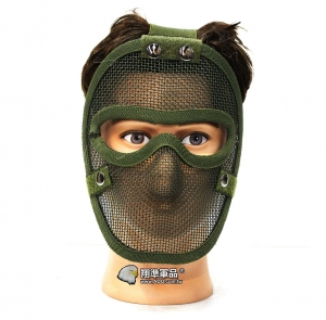 【翔準軍品 AOG】綠色 無尾熊 全臉露眼面罩 面罩 護具 安全裝備 透氣 夏日  X2-11-2