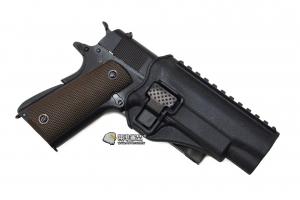 【翔準軍品 AOG】黑色 腰掛 背心款 1911 硬殼槍套 手槍 瓦斯槍 周邊配件 P1105KG
