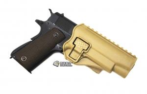 【翔準軍品 AOG】沙色 腰掛 背心款 1911 硬殼槍套 手槍 瓦斯槍 周邊配件 P1105KM