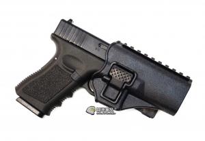 【翔準軍品 AOG】黑色 腰掛 背心款 GLOCK 硬殼槍套 手槍 瓦斯槍 周邊配件 P1105KF