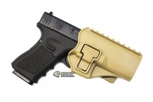 【翔準軍品 AOG】沙色  腰掛 背心款 GLOCK 硬殼槍套 手槍 瓦斯槍 周邊配件 P1105KK