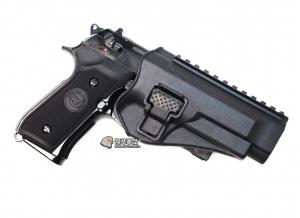 【翔準軍品 AOG】黑色 腰掛 背心款 M9 M92 手槍 硬殼槍套 瓦斯槍 周邊配件 P1105KH