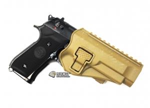 【翔準軍品 AOG】沙色 腰掛 背心款 M9 M92 手槍 硬殼槍套 瓦斯槍 周邊配件 P1105KL