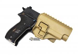 【翔準軍品 AOG】沙色 腰掛 背心款 P226  手槍 硬殼槍套 瓦斯槍 周邊配件 P1105KN