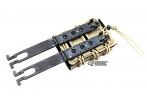 【翔準國際AOG】沙色 皮老闆 M14 步槍 快拆 彈匣套 7.62 生存 裝備 配備 TB1209-DE