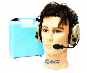 【翔準軍品AOG】Z TAC 沙色 重低音耳機 Z111 抗噪耳機 無線電 麥克風 頭盔 生存遊戲 E0140BC