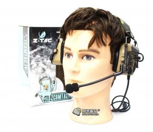 【翔準軍品AOG】Z TAC重低音耳機 沙色 抗噪耳機 無線電 麥克風 頭盔 生存遊戲 E0140BF