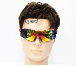 【翔準軍品AOG】高清無邊框 護目鏡 黑紅 太陽眼鏡 墨鏡 射擊眼鏡 防護裝備 E03009-1E