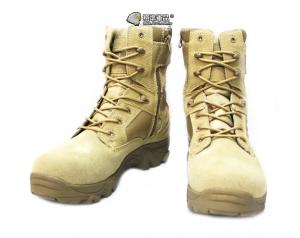 【翔準軍品AOG】沙色 新款  戰鬥靴  登山靴 拉鍊 側開 軍靴  野戰靴 生存遊戲 H0105-43
