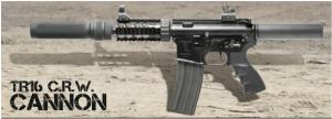 【翔準軍品AOG】*無法超取*G&G怪怪 TR16 CRW Cannon 電動槍 M4 金屬 免運費