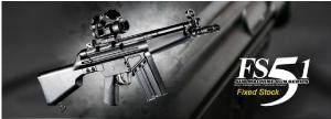 【翔準軍品AOG】*無法超取*G&G怪怪 FS51-Fixed Stock 電動槍 AEG 金屬 免運費