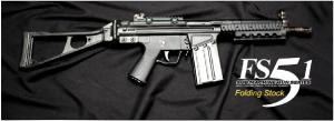 【翔準軍品AOG】*無法超取*G&G怪怪 FS51-Folding Stock 電動槍 AEG 金屬 免運費