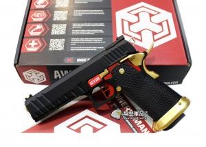 【翔準軍品AOG】WE 黑金紅 AW HI-CAPA HX2002 (變色龍) 瓦斯槍 手槍 黑武士 D-02-05DJ