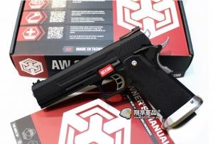 【翔準軍品AOG】WE 黑色 AW HI-CAPA HX1102 全金屬 瓦斯槍 手槍 光纖準星 D-02-05DF