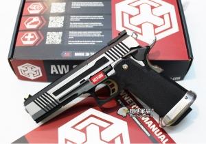 【翔準軍品AOG】WE 銀色 AW HI-CAPA HX1001 全金屬 瓦斯槍 手槍 光纖準星 D-02-05DG