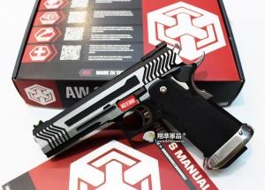 【翔準軍品AOG】WE 銀色 AW HI-CAPA HX1101 全金屬 瓦斯槍 手槍 競技版 D-02-05DE