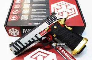 【翔準軍品AOG】WE 黑銀金 AW HI-CAPA HX2001(變色龍) 瓦斯槍 手槍 競技版 D-02-05DI