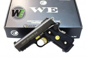 【翔準軍品AOG】WE 黑色 BABY HI-CAPA 3.8 全金屬 競技精裝版 瓦斯槍 斜紋版D-02-33