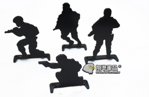 【翔準軍品AOG】 鋼製 4裝 人形靶 綜合105404 加厚 標靶 比賽 耗材 Z-04AE