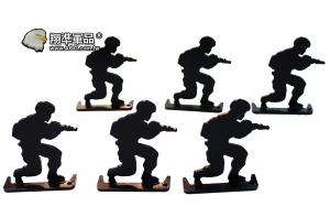 【翔準軍品AOG】 鋼製 6裝 人形靶 半蹲105366 加厚 標靶 比賽 耗材 Z-04AB
