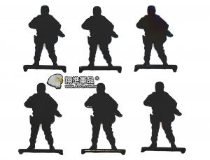 【翔準軍品AOG】 鋼製 6裝 人形靶 站立105366 加厚 標靶 比賽 耗材 Z-04AA