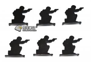 【翔準軍品AOG】 鋼製 6裝 人形靶 跪式105366 加厚 標靶 比賽 耗材 Z-04AD