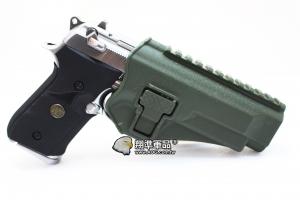 【翔準軍品AOG】 (腰掛-背心款) M9綠色硬殼槍套 手槍 硬殼槍套 瓦斯槍 P1105KQ