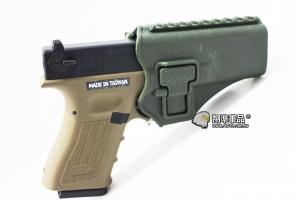 【翔準軍品AOG】 (腰掛-背心款) GLOCK綠色硬殼槍套 手槍 硬殼槍套 瓦斯槍 P1105KP