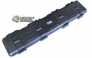 【翔準軍品AOG】UFC125X29X13公分箱黑高級版 槍箱 高密度海綿 塑膠箱 鋁箱 箱子 樂器 電動槍 瓦斯槍 長槍 DA-GC-031A