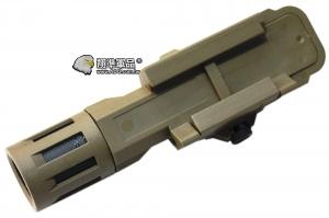 【翔準軍品AOG】 長沙色戰術槍燈NGA0983 沙色 槍燈 寬軌 夾具 老鼠尾 強光 電動槍 瓦斯槍 B03021AZB