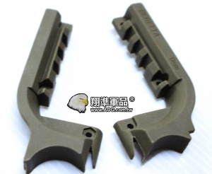 【翔準軍品AOG】[手槍下魚骨]M9手槍魚骨 塑膠材質 零件 周邊商品 沙 C1102-5