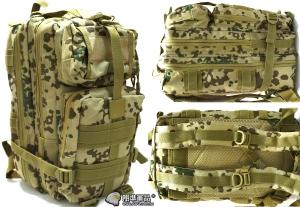 【翔準軍品AOG】3P 攻擊包(德軍沙漠) 軍規 戰術 背包 旅遊包 後背包 雙肩包 牛津包 口袋 登山包 野營包 模組 P0310J