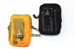【翔準軍品AOG】5.5吋腰包-(黑/橘) 工具包 多功能 molle 口袋 手機 尼龍 戶外 模組 運動腰包 休閒 戰術腰包 X0-43-01